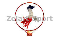 Кольцо баскетбольное C-7035 (d кольца-46,5см, d трубы-12мм, в ком.кольцо-металл, сетка-нейлон,болты)
