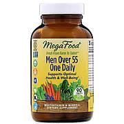Мультивитамины для мужчин 55+, Men Over 55 One Daily, MegaFood, 90 таблеток