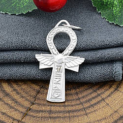 Серебряный крестик Египетский размер 28х17 мм вес 2.09 г