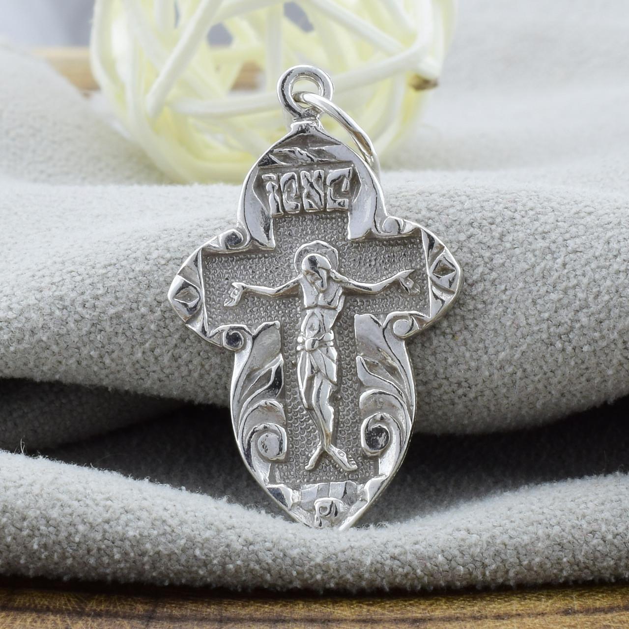 Серебряный крестик Православный размер 32х17 мм вес 3.1 г