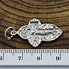 Серебряный крестик Православный размер 32х17 мм вес 3.1 г, фото 2