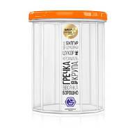 Контейнер пищевой для сыпучих продуктов с резьбой 1л d11*13.5см