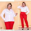 Рубашка женская на пуговицах софт 48-50,52-54,56-58, фото 5
