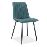 Зеленые стулья Signal Alan из ткани с черными металлическими ножками для кухни модерн