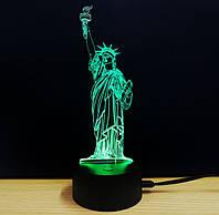 """Ночник 3D """"Статуя свободы"""", фото 1"""