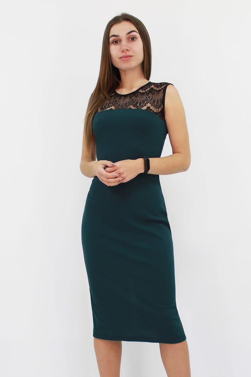 Вечернее платье с кружевом Verona, темно-зеленый