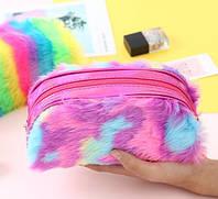 Пенал меховых разноцветный 2