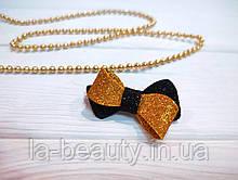 Бантик Eternity для собаки черно-золотой блестящий для выставок и дома Pets Couturier SIMBA