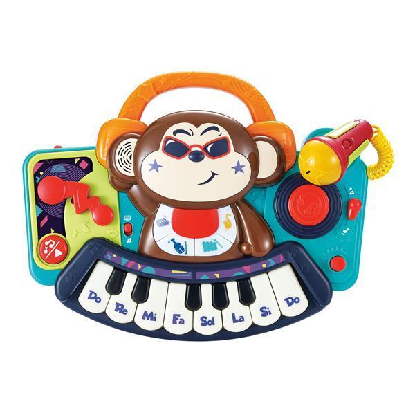 Музыкальная игрушка Hola Toys Пианино-обезьянка с микрофоном (3137)