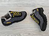 43р Зимові кросівки сірого кольору на шнурівці (КБ-401ч), фото 3