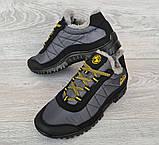 43р Зимові кросівки сірого кольору на шнурівці (КБ-401ч), фото 4