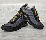 43р Зимові кросівки сірого кольору на шнурівці (КБ-401ч), фото 5
