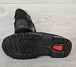 43р Зимові кросівки сірого кольору на шнурівці (КБ-401ч), фото 7