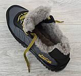 43р Зимові кросівки сірого кольору на шнурівці (КБ-401ч), фото 8