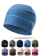 Спортивная трикотажная эластичная утепленная шапка-бини / шапка-трансформер из флиса «NorthFlag» 8EA-A02