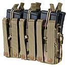 Оригинал Подсумок двойний для AR магазинов карабина молле Condor Triple Stacker M4 Mag Pouch MA44 Чорний, фото 7