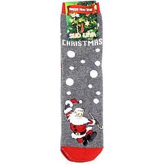 Шкарпетки теплі новорічні Slid Leva розмір 42-43 сірі