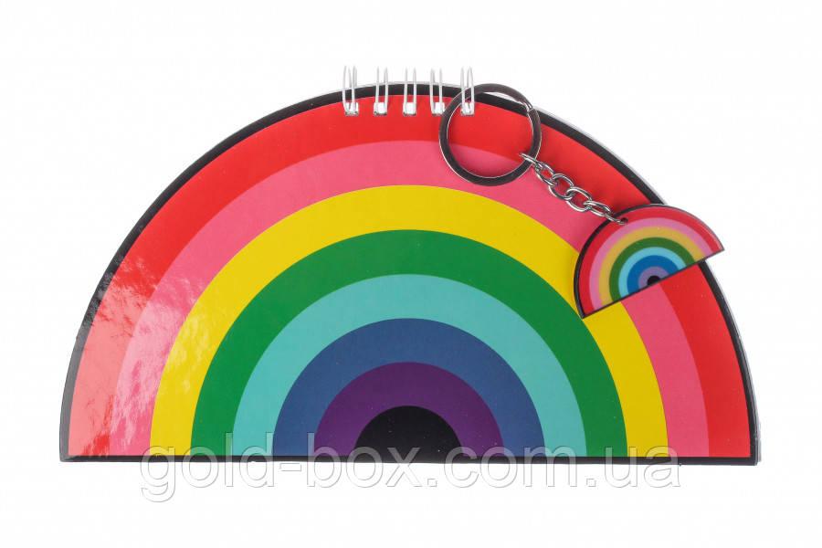 Блокнот радуга с брелком