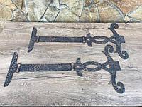 Петли, пара петель, антикварная дверная фурнитура, дверная ручка, молоток ForgedCommodities