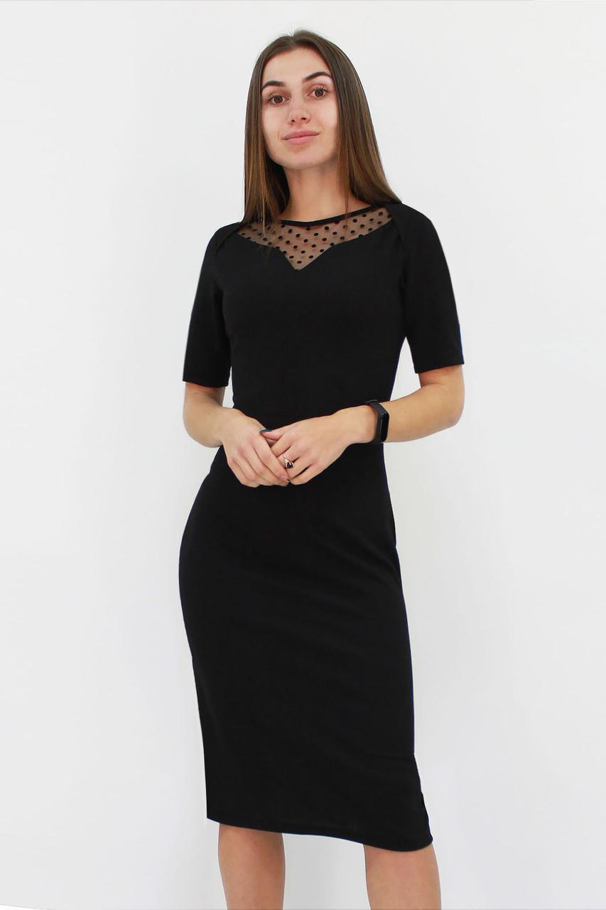 Женское платье с сеточкой Tiana, черный