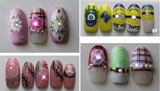Новинка! Декор нігтів Наклейки NFC для дизайну нігтів білі Набір 2 штуки - Світлодіодні нігті