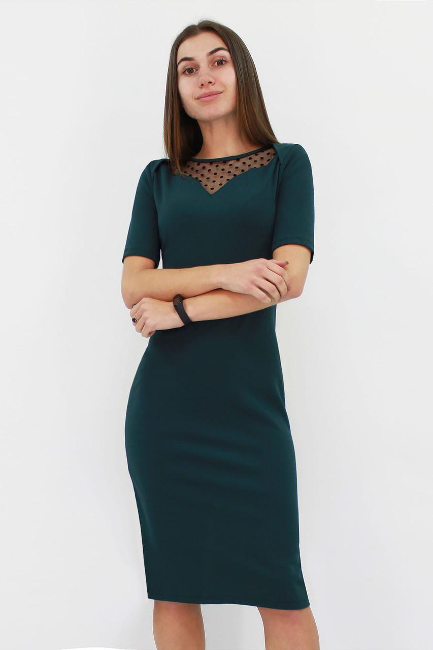 Женское платье с сеточкой Tiana, темно-зеленый