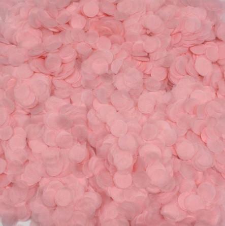Конфетти кружочки розовые - 10г, размер одного кружка около 1см, бумага