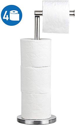 Напольный держатель рулонов туалетной бумаги Tatkraft KIARA 10130, фото 2