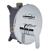 Двухпозиционный скрытый смеситель для ванны/душа (круглый) D 180 мм CM-11.R-200-01