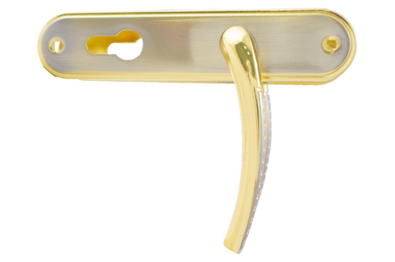 Ручка на планке под цилиндр FZB - 62 мм ET-71106 SN/GP