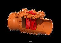 Обратный клапан Staufix Ø110 с двумя заслонками для установки на открытом трубопроводе