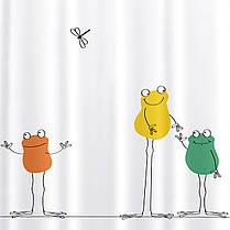 Штора для душа Tatkraft Funny Frogs водонепроницаемая PEVA 180X180 см (17528), фото 3
