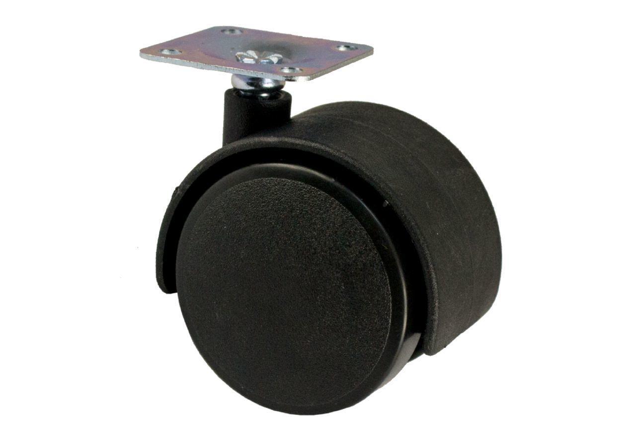 Опора колесная FZB - 40 мм, без фиксатора черная