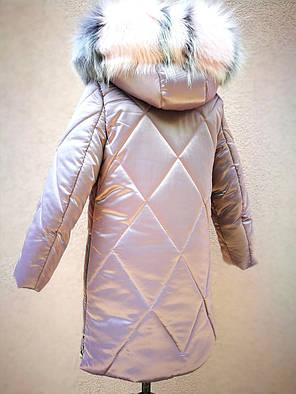 Зимнее пальто для девочек рост 119-124, фото 2