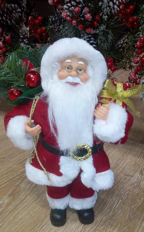 Дед Мороз красный 30 см