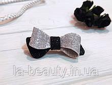 Бантик Eternity для собаки (ВИДЕО) черно-серебряный блестящий для выставок и дома Pets Couturier SIMBA
