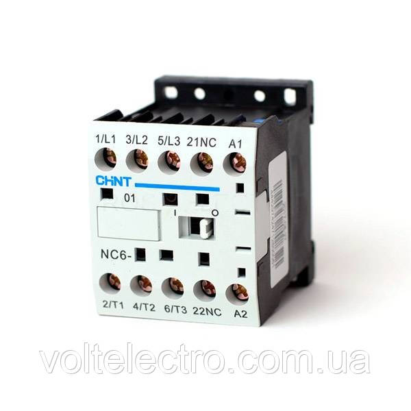 Контактор NC6-0610 6А 230В 50Гц 1НО