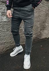 Джоггеры Staff jeans gray круглогодичный тёмно-серый XS