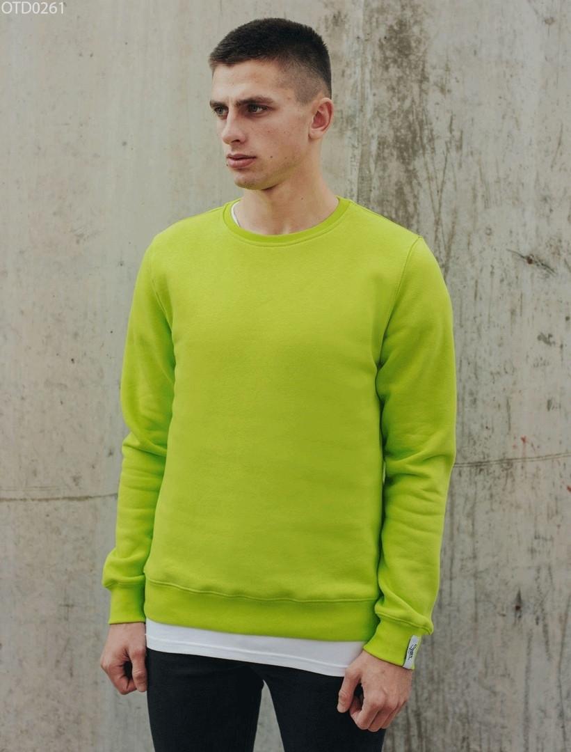 Свитшот Staff basic light green fleece XXL
