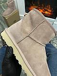 Женские зимние сапоги Ugg Classic Mini Suede Pink., фото 4
