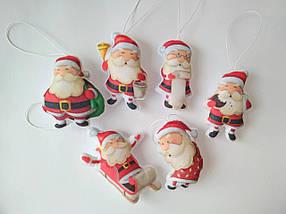 Набір ялинкових іграшок Санта Клауси 6 шт.  КОД: SUN2420