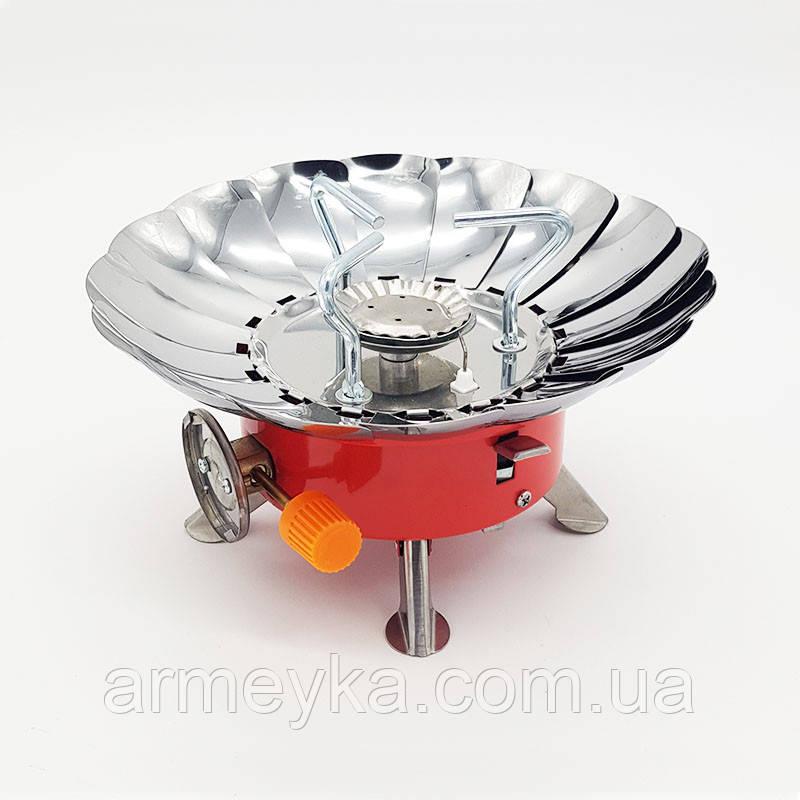 Плита газовая (горелка) с защитой от ветра.