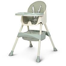 Детский стульчик для кормления  M 4136 ICE GRAY серый