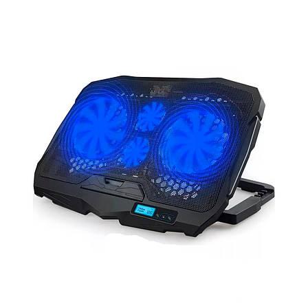 """Охолоджуюча підставка для ноутбука S18 c підсвічуванням, 9-17"""", фото 2"""