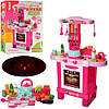 """Детский набор """"Кухня маленькой хозяйки"""" Limo Toy 008-939 с посудой, продуктами, световые и музыкальные эффекты"""