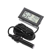 Цифровой термометр и влагомер -50~110°C с выносным датчиком (автономный с батарейками), фото 1