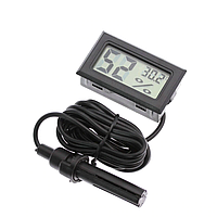 Цифровий термометр і гігрометр -50~110°C з виносним датчиком (автономний з батарейками)