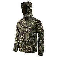 Куртка тактическая Softshell (CAMO GREEN) Софтшелл