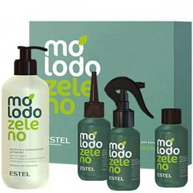 Набір для експрес-процедури з хлорофілом для волосся Molodo Zeleno Estel Professional (400 мл / 3Х100 мл)