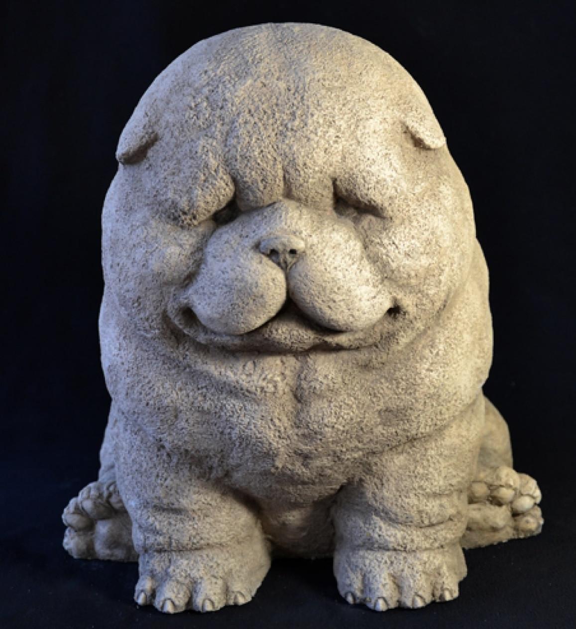 """Садовая скульптура """"Собака шарпей"""", высота 30 см"""
